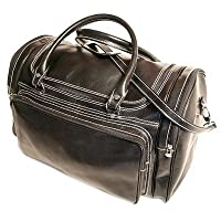 "Torino 20"" Leather Travel Duffel Color: Vecchio Brown by Floto Imports"