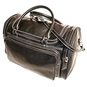 """Torino 20"""" Leather Travel Duffel Color: Vecchio Brown by Floto Imports"""