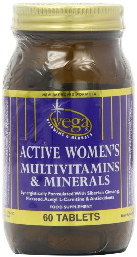 Vega Active Women's Multivitamin and Minerals - Pack of 60 Tablets