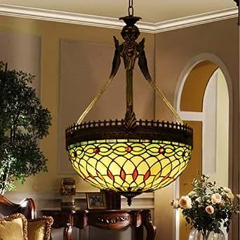 minimalist style retro color mosaic glass tiffany chandelier dining room den. Black Bedroom Furniture Sets. Home Design Ideas