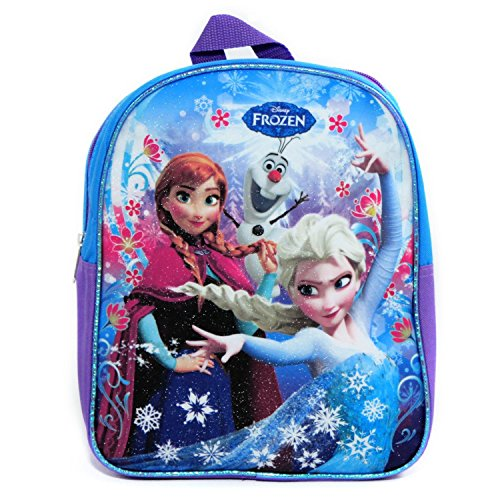 Disney Frozen Princess Elsa and Anna School Backpack Blue 11 Inch - 1