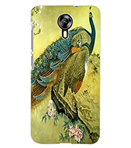ColourCraft Beautiful Peacock Design Back Case Cover for MICROMAX CANVAS XPRESS 2 E313