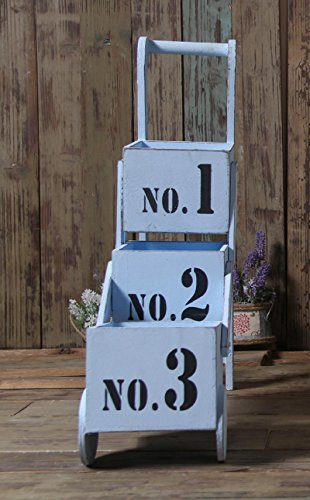 new-day-village-fare-la-vecchia-scatola-di-stoccaggio-carro-di-legno-fiore-carnoso-multi-shelf-123-f