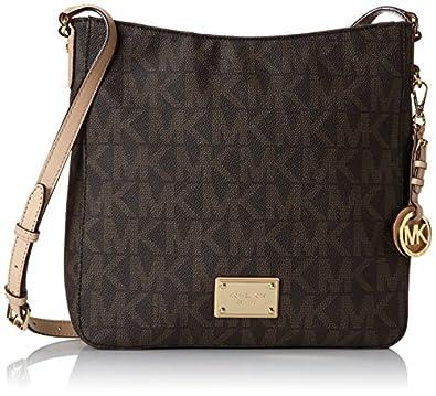 michael kors handbag jet set travel large messenger bag brown amazon. Black Bedroom Furniture Sets. Home Design Ideas