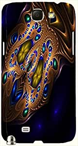 Stunning multicolor printed protective REBEL mobile back cover for Samsung Galaxy Note II N7100 D.No.N-L-17376-N2