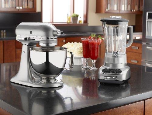 KitchenAid KSM150PSMC Artisan Series 5 Quart Mixer, Metallic Chrome By  Kitchenaid