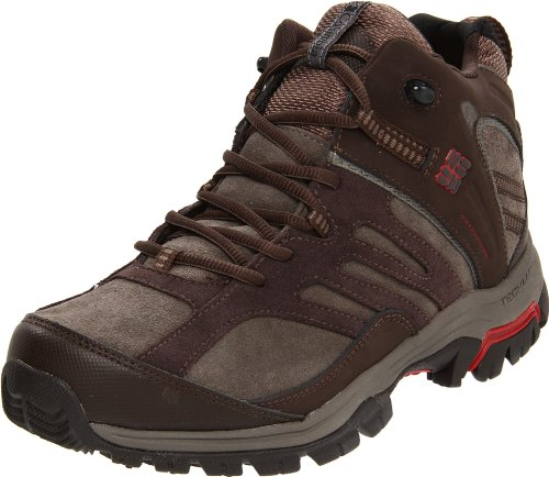 Columbia Men's Shasta Ridge Mid Omni Tech Lea Bungee Cord, Chili Pepper Hiking Shoe BM3709 7 UK