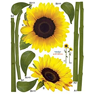 Nursery Easy Apply Wall Sticker Decorations - Sunflower from HYUNDAE Sheet