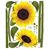 Nursery Easy Apply Wall Sticker Decorations - Sunflower