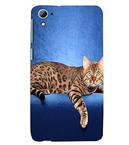 Printvisa Premium Back Cover Cute Cat Sitting On Sofa Design For HTC Desire 826::HTC Desire 826 Dual
