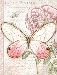 Lang 7.56 x 8.5 Inches Perfect Timing Pink Butterfly Address Book (1013230)