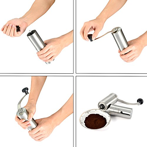 Hand Crank Kitchen Appliances: Coffee Grinder With Hand Crank, SUNKO Manual Coffee Mill