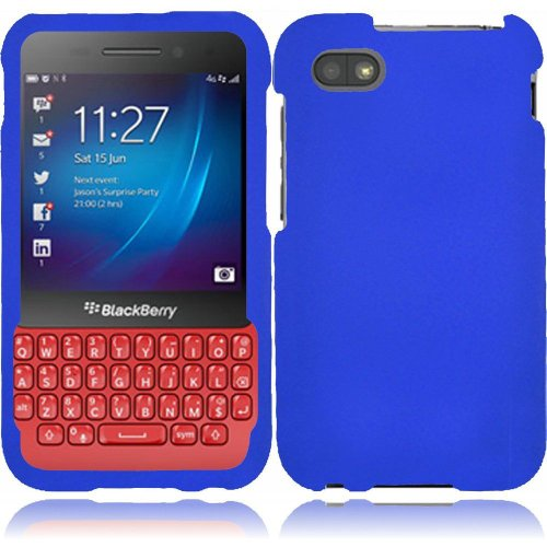 Cell Accessories For Less (Tm) For Blackberry Q5 Rubberized Cover Case - Blue - By Thetargetbuys *Free Shipping*