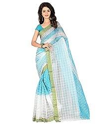 Sanju Dashing Light Blue Color Cotton Saree
