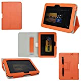 ProCase old generation Kindle Fire HD 7 Case - Bi-Fold Stand Folio Cover for Amazon Kindle Fire HD 7 Inch Tablet (2012 version) auto sleep /wake feature (Orange) ~ ProCase