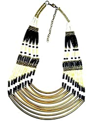 Abhishek Creations Black Metal Necklace For Women (AB BN0352A)