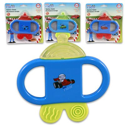 Blue Water Filled Teether with Handle for Babies (Color May Vary) - 1
