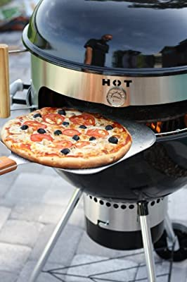 Made in USA KettlePizza Prograte and Tombstone Combination Kit for 22.5-Inch Kettle Grills, KPPG-22