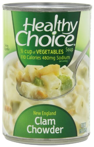 Healthy Choice New England Clam Chowder Soup, 15-Ounce Cans (Pack Of 12)