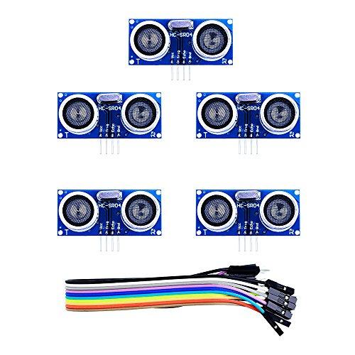Elegoo-HC-SR04-Ultrasonic-Module-Distance-Sensor-for-Arduino-UNO-MEGA2560-Nano-Robot-XBee-ZigBee-Set-of-5