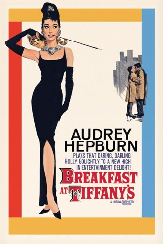 Audrey Hepburn Breakfast at Tiffany's with Credits Movie Poster - 24x36