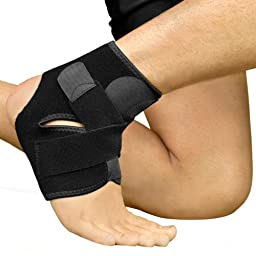 Alayna Breathable Neoprene Ankle Support, One Size, Black
