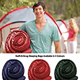 Cool Weather Sleeping Bag From Swift-n-Snug - Temp: 23 - 59 Degree F (-5 - 15 Deg Celsius) Travel, Camping, Hiking - For Adults, Kids, Teens, Mummy & Dad