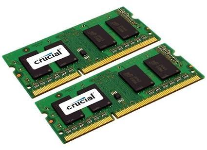 Crucial - Mémoire compatible pour Mac 16Go (8Gox2) DDR3/DDR3L 1600 MHz (PC3-12800) CL11 SODIMM 204-Pin 1.35V/1.5V CT2C8G3S160BM