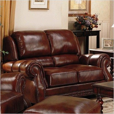 Picture of Galleria Bella Austin Saddle Leather Loveseat (291174-02) (Sofas & Loveseats)