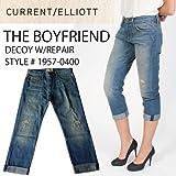 Current Elliott カレントエリオット ボーイフレンドデニム クロップトパンツ リペアーデコイ THE BOYFRIEND RELAXED RISE DECOY W/REPAIR Jeans denim レディース クロップド ロールアップ ジーンズ 1957-0400 [並行輸入]