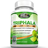 Top Rated Triphala - Pure Himalaya Triphala Extract Plus Capsules - 30 Day Supply, 1000mg 60ct Veggie Capsules By BRI Nutrition