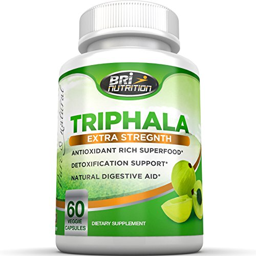 Top Rated Triphala – Pure Himalaya Triphala Extract Plus Capsules – Great For Weight Loss, Heart Health, Digestion & Healthy Skin, 30 Day Supply, 1000mg 60ct Veggie Capsules By BRI Nutrition