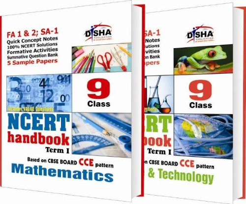 NCERT Handbook Term 1 - Science & Mathematics: Class 9 (NCERT Solutions + FA activities + SA Practice Questions & 5 Sample Papers)
