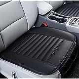 TRUE LINE Automotive One Piece Car Bamboo Charcoal Car Seat Premium Cushion Cover Pillow PU Leather (Color: Black)