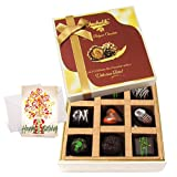 Dark Chocolate Treat With Birthday Card - Chocholik Luxury Chocolates