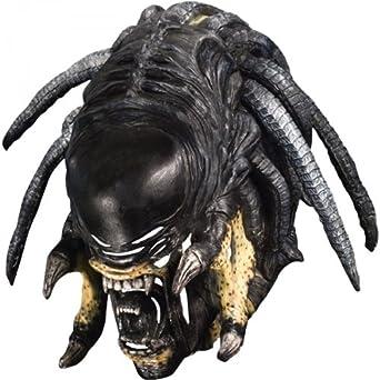 Alien vs.Predator Deluxe Predalien Overhead Latex Mask, One Size, Black