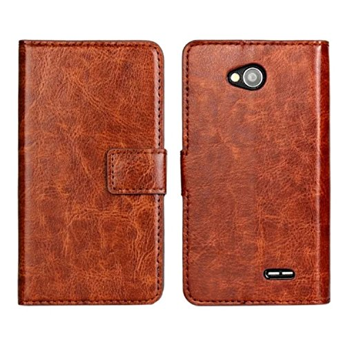 Sannysis Leather Wallet Case For LG Optimus L90 D415 (Coffee) (Cell Phone Cases Lg Optimus L90 compare prices)