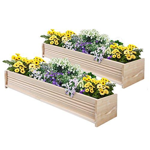 Greenes Fence Cedar Patio Planter Box, 48-Inch, 2-Planters (Interior Window Planter compare prices)