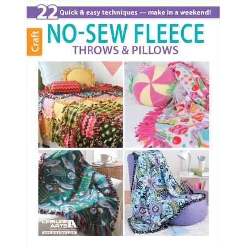Leisure Arts No Sew Fleece Throws And Pillows Book front-738113