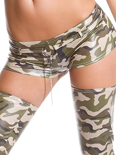 Gogo-Hotpants in sexy Wet-Glanz-Optik