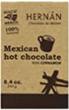 Hernan Mexican Hot Chocolate Tablillas/squares with Cinnamon (8.4oz) - 2012 Sofi Gold Winner - 100% Natural Made with Organic Cocco Beans