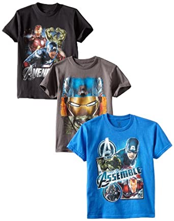 Marvel Avengers Boys 8-20 3 Pack Tees, Asst, X-Large