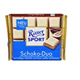 German Ritter Sport Chocolate Duo With White Chocolate - 5 x 100 g