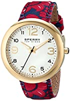 Sperry Top-Sider Women's 10014921 Sandbar Analog Display Japanese Quartz Red Watch from Sperry Top-Sider Watches MFG Code