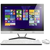 Lenovo C50-30 58,4 cm (23 Zoll FHD LED) All-in-One Desktop-PC (Intel Core i5-4210U, 1,7GHz, 8GB RAM, 1TB HDD, NVIDIA GeForce 820A 2GB, DVD, Touchscreen, Win 8.1) weiß