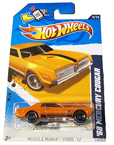 Hot Wheels Muscle Mania Ford '12 '68 Mercury Cougar - 1