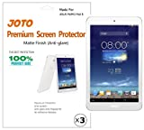 JOTO Premium Screen Protector Film Anti Glare, Anti Fingerprint (Matte Finish) for ASUS MeMO Pad 8 Tablet (ME180A) with Lifetime Replacement Warranty (3 Pack)