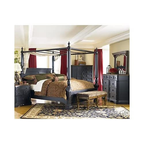 Rowley creek queen bedroom set by ashley for Living room queen creek