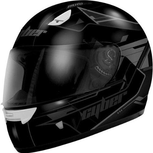 Cyber Helmets US-39 Graphics Helmet , Size: XS, Primary Color: Black, Distinct Name: Matte Black, Helmet Type: Full-face Helmets, Helmet Category: Street, Gender: Mens/Unisex 640580