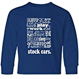 Inktastic Big Boys' Stock Car Racing Gift Youth Long Sleeve T-Shirt Youth X-Large Royal Bue